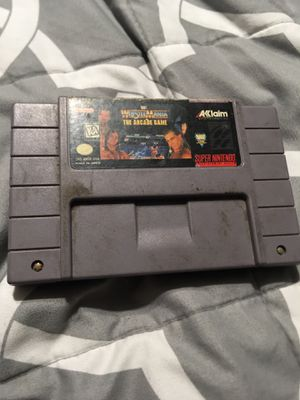 Wrestle Mania the arcade game Super Nintendo snes for Sale in Irwindale, CA
