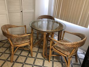 Kitchen table with bambo chairs for Sale in Burbank, CA
