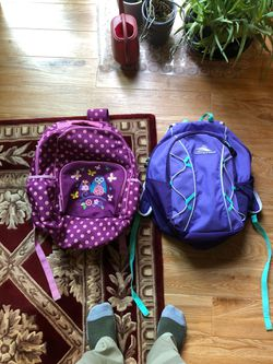 2 girls backpacks for Sale in Potomac,  MD