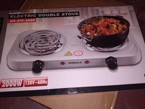 Double electric burner stove new $25.00 for Sale in San Jacinto, CA