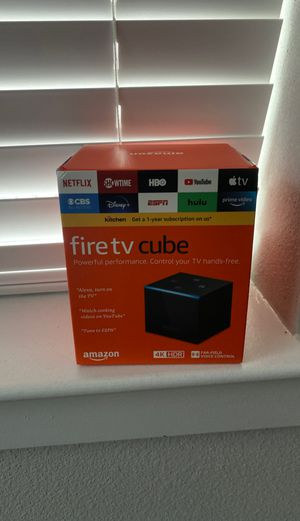 amazon fire tv cube for Sale in Houston, TX