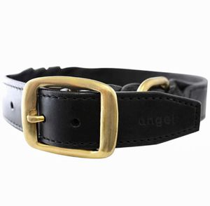 Black Genuine Oiled Braided Leather Dog Collar w/Real Brass for Sale in Lewisville, TX