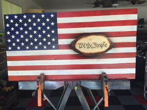 """""""we the people"""" Commemoration Wood Flag for Sale in Beaufort, SC"""