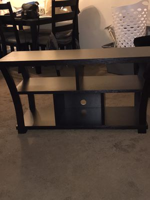 Brand new dark wood tv stand brand new condition for Sale in Capitol Heights, MD