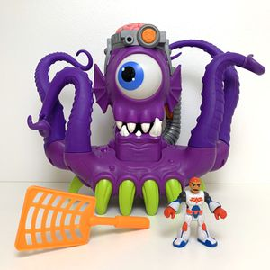 2014 Mattel Fisher-Price Imaginext Tentaclor - Space Alien Octopus Toy with Weapon and character - Lights and Sounds Work Great! for Sale in Elizabethtown, PA