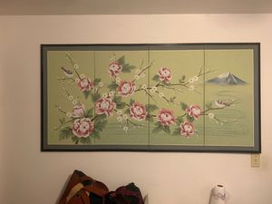 Large 4 Panel folding canvas painting for Sale in Indianapolis, IN