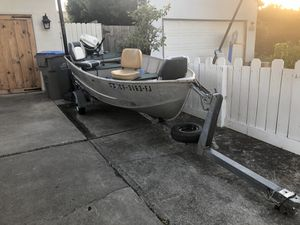 Aluminum fishing boat for Sale in Fremont, CA