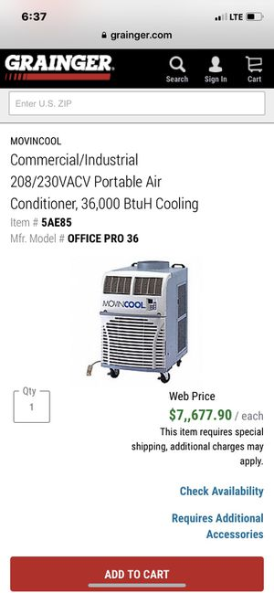 Movincool portable commercial ac unit for Sale in Carson, CA