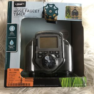 3 - Orbit 1 dial 4 outlet hose faucet timers for Sale in Parma, OH