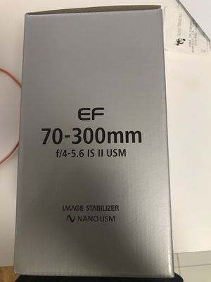 Canon Lens New: EFS 70-300mm IS II USM for Sale in New York, NY