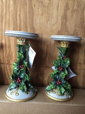 Christmas candles holder by home interiors for Sale in Dallas, TX