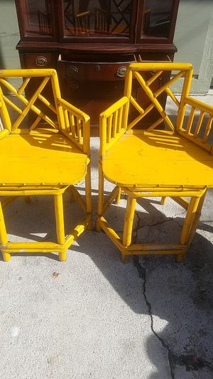 Chineese antique Bamboo chairs for Sale in Long Beach, CA
