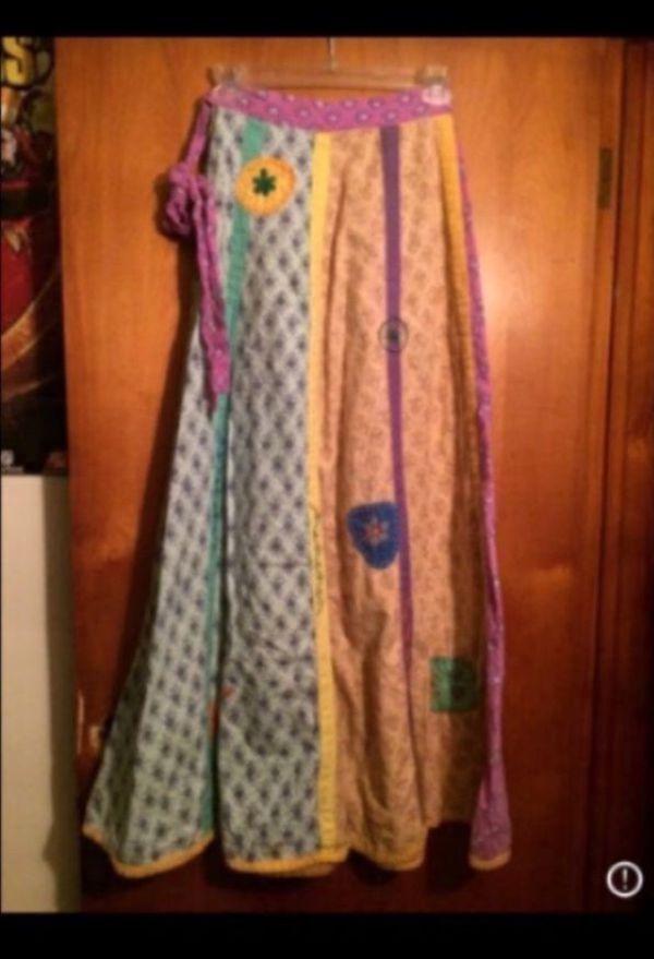 Handmade hippie festival skirt