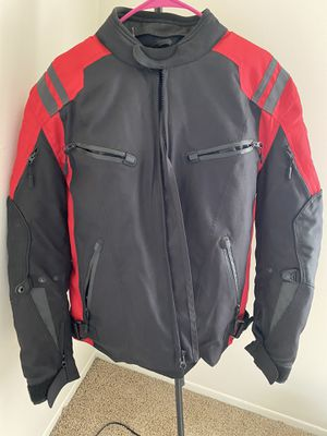 Black and Red Motorcycle Jacket Medium size for Sale in Dearborn Heights, MI