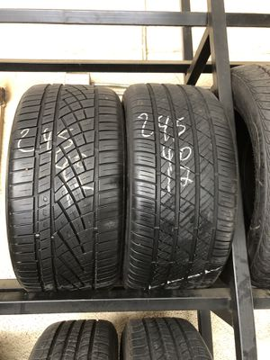 245-40-17 used tires 245/40/17 llantas usadas for Sale in Fontana, CA