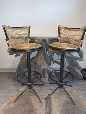 Boho rattan bar chairs for Sale in Greenville, SC