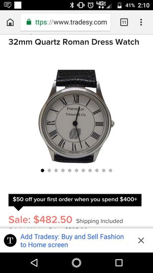 Tiffany Portfolio watch for Sale in New Haven, CT