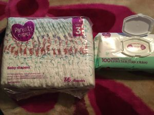 Parents choice diapers size 3 and wipes for Sale in Los Angeles, CA
