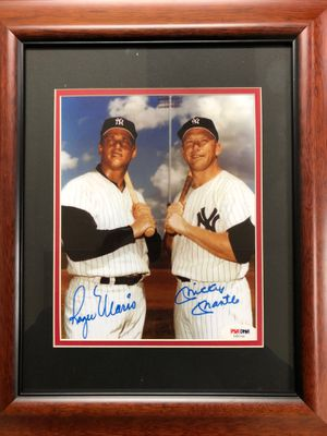 Signed photo of Roger Maris and Mickey Mantle with COA for Sale in Altamonte Springs, FL
