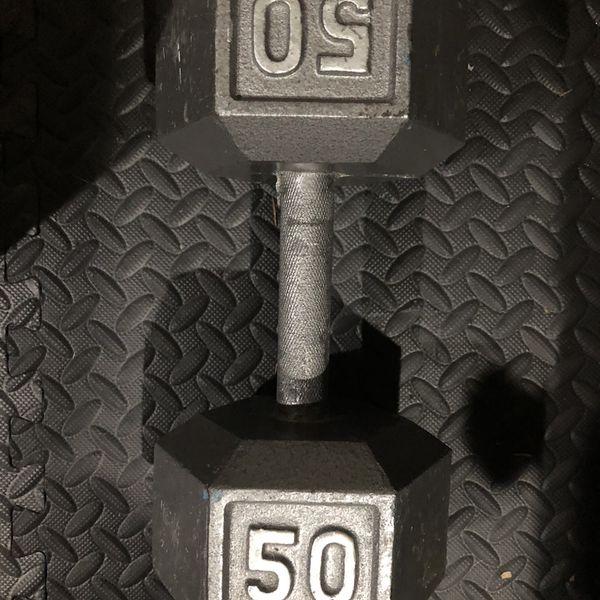Single 50lb Dumbbell