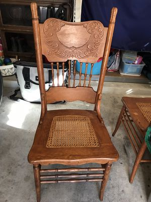 Antique cane dining chairs (8) for Sale in West Lake Hills, TX