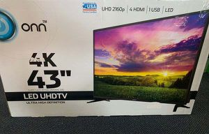"Brand New ONN 43"" 4K TV! Open box w/ warranty U58 X for Sale in Round Rock, TX"