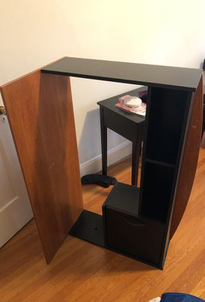 Shelf/bookcase with desk that can be attached or detached for Sale in San Francisco, CA