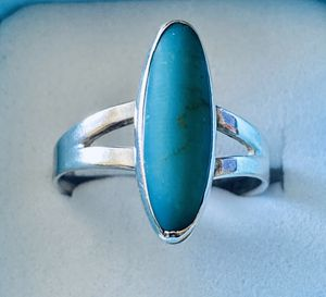 Native Tribal Sterling 3 TCW Natural Turquoise! Sz 8! for Sale in Syracuse, NY