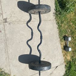 Great condition crowbar standard with 50 pounds of weight for Sale in Fresno, CA