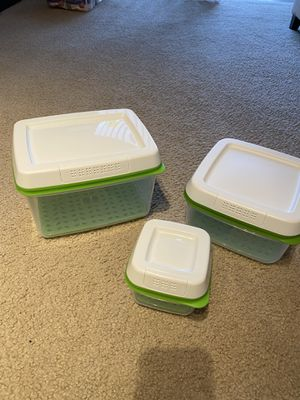 Rubbermaid FreshWorks Produce Saver Food Storage Containers Set for Sale in Miramar, FL