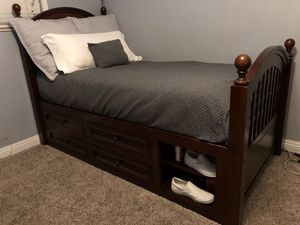 Captains Twin Bed and Matress for Sale in Fresno, CA