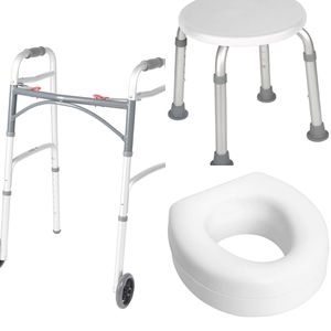 Walker + Adjustable Shower Stool + Toilet Seat Riser for Sale in Lutz, FL