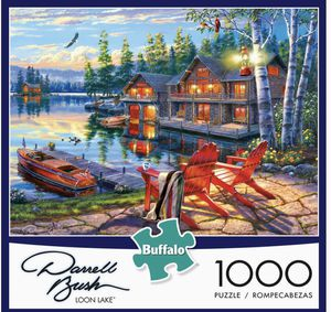 Darrell Bush Loon Lake 1000 PC Puzzle Brand New Buffalo Games for Sale in Las Vegas, NV