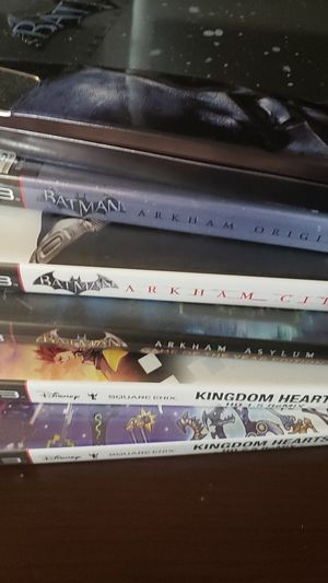 PS3 game lot kingdom hearts and Batman Arkham for Sale in San Antonio, TX