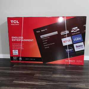 TCL 55 inch 4K ROKU TV UNOPENED/BRAND NEW for Sale in Fort Worth, TX