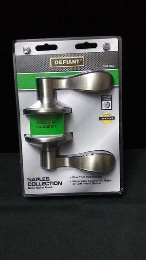 Defiant hall closet door levers. Brand new in the package. for Sale in Renton, WA
