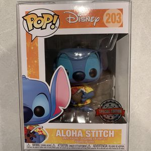 Aloha Stitch Funko Pop *MINT* Hot Topic Special Edition Exclusive Lilo Disney 203 Hawaiian with protector for Sale in Lewisville, TX