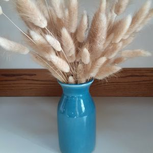 Cute Blue Ceramic Vase with Dried Floral for Sale in Seattle, WA