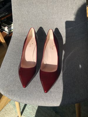 Used, NEW Kate Spade Jessa Heel Size 9.5 *MSRP 298* Ruby Red Patent Leather for Sale for sale  Brooklyn, NY