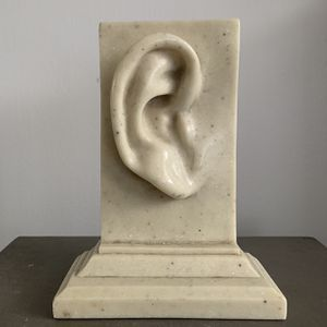 Rare Signed Ear Human Pop Art Kitsch Anatomy Body Faux Marble Plaster Resin Acryllic Part Vintage Midcentury Mcm 60s 70s 80s for Sale in Santa Ana, CA