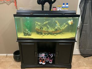 75 gal fish tank/stand for Sale in Lake Elsinore, CA