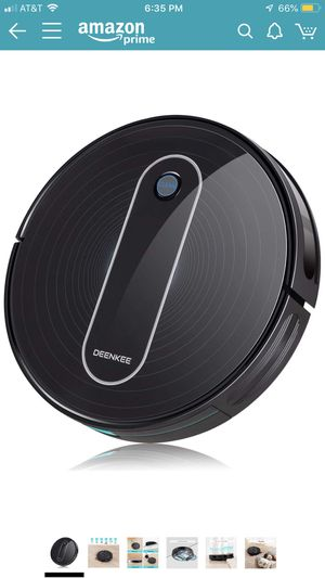 DEENKEE DK600 Robot Vacuum,1500Pa High Suction,2.8 inch Super-Thin,6 Cleaning Modes,Quiet,Timing Function,Self-Charging Robotic Vacuum Cleaner for Pe for Sale in Phoenix, AZ
