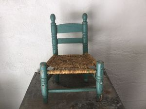 Vintage doll chair rush seat chair for Sale in Grand Rapids, MI