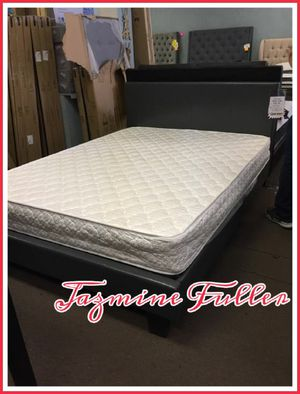 Queen size platform bed frame with Mattress included for Sale in Glendale, AZ