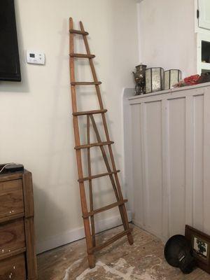 Primitive antique wooden ladder 6 ft for Sale in Villa Rica, GA