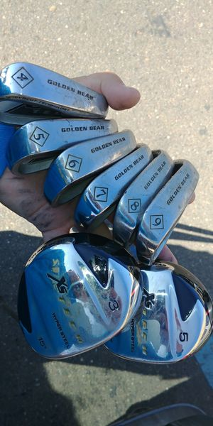 Golden Bear SX golf irons and drivers for Sale in San Diego, CA