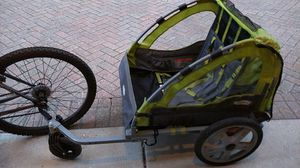 Instep Dual Seats Bike Trailer/Push Stroller w/Attachments for Sale in Chicago, IL
