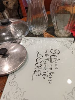 Cutting Board, Vases for Sale in North Richland Hills,  TX