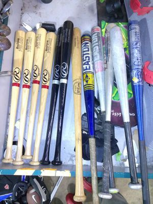 BASEBALL BATS FOR SALE - WOOD & ALUMINUM for Sale in University City, MO