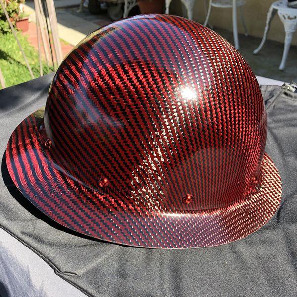 CERIOUS COMPOSITES RED KEVLAR CARBON FIBER HARD HAT WITH